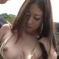 伝説の美少女をビーチで独り占め - 岬リサ【水着・野外露出・中出し】